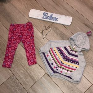 Poncho and pants set